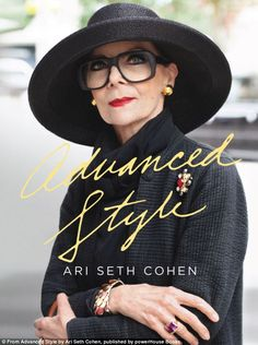 Style at any age: The book's cover, featured above, encompasses everything the photographer has grown to love about New York's stylish seniors