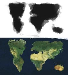 Merged image of 30 people trying to draw the world by memory. - Imgur