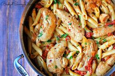 Chicken Mozzarella Pasta with Sun-Dried Tomatoes Recipe