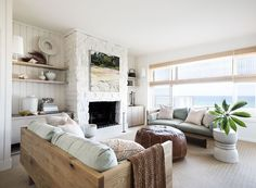 This serene beach house by interior designer Karen Akers, sited on Avoca Beach, a coastal suburb of the Central Coast region of New South Wales, Australia.