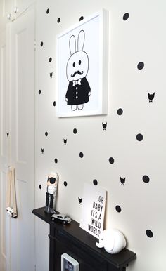balck and white decor #kids | Molly Meg