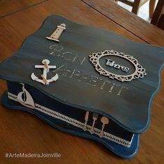 """70 Likes, 8 Comments - Arte Madeira Joinville (@artemadeirajoinville) on Instagram: """"Porta-talher para a casa de praia. #ArteMadeiraJoinville #AGenteAdoraCompartilhar"""""""