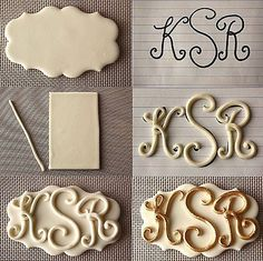Monogram -- could use with melted chocolate