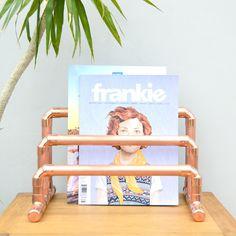Copper Pipe Magazine / Book / Vinyl Rack