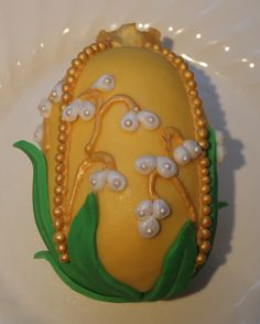 yellow faberge egg cake