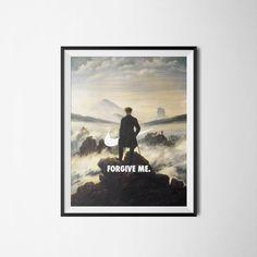 Nike Painting Poster Forgive Me Wall Art Digital by PrintClub