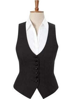 waistcoat with collared shirt