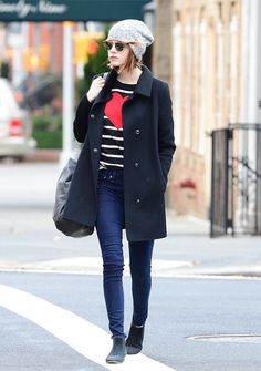 Emma Stone's Perfect Cool Weather Street Style