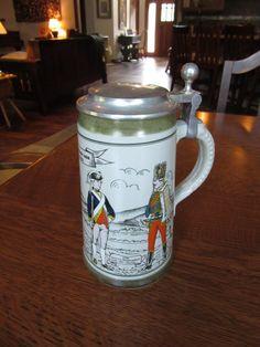 Vintage Revolutionary War Commemorative Beer Stein Tankard Colonial Patriotic Barware American History Tavern Masculine Gift Men (25.00 USD) by BarefootAndCivil