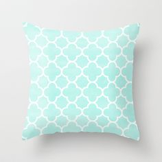 MOROCCAN {TEAL & WHITE 2} Throw Pillow by natalie sales - $20.00