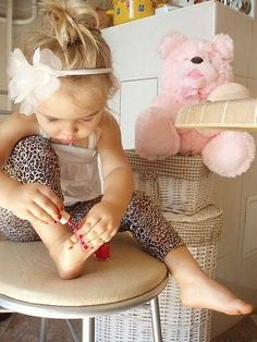 If this baby is a girl.....this would be her if she is anything like me! Obsessed with nails!