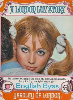 Everything English was popular in the especially any Yardley of London products. i bought yardley products. Vintage Makeup Ads, Retro Makeup, Vintage Beauty, Vintage Ads, Funny Vintage, 1960s Makeup, Vintage Trends, Eye Makeup, Vintage Fashion