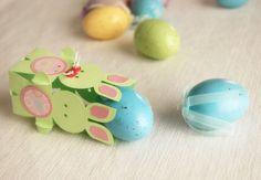 décoration de Pâques DIY avec un lapin en papier