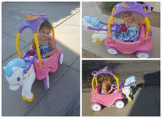 This is How a Princess Plays Outside ~ Little Tikes Princess Horse & Carriage