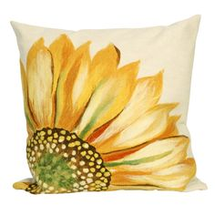 Liora Manne // Sunflower Yellow Throw Pillow