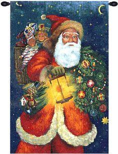Santa Claus Tapestry Wall Art Hanging
