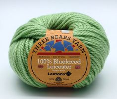 100% Bluefaced Leicester wool in Pistachio. We have teamed up with another fantastic British textile manufacturer - Laxtons Yarns, worsted woollen spinners. They have produced this beautiful yarn with such a gorgeous handle especially for us to dye in our Lancashire Dye House.  British premium wool, grown, spun, dyed and balled in the UK.  #threebearsyarn #madeintheuk #weaving #knitting #crochet #crafts #Blackburnyarndyers #wool #bluefaced #madeinlancashire #britishmade #makeitbritish
