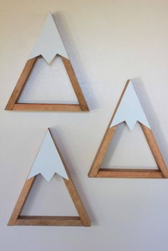 This Snow Peak Mountain Shelf would add a unique touch to any little mans nursery, or boys room. Also would make an adorable baby shower gift! A great way to display little figurines, and trvel trinkets! $25 EACH ++PLEASE READ ENTIRE LISTING BEFORE ORDERING++ It measures: 11 inches tall