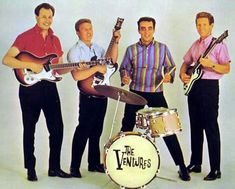 """The Ventures play, """"Theme From Come September"""". Featured on their 1963 album, 'Going To The Ventures Dance Party'. Brian Wilson, Don Wilson, Surf Music, 60s Music, Rock Music, Surf Guitar, Guitar Art, Rockabilly, Duane Eddy"""