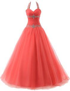 JAEDEN Halter Backless Quinceanera Dresses Ball Prom Dresses Coral US2 JAEDEN http://www.amazon.com/dp/B00WG50UHK/ref=cm_sw_r_pi_dp_K6cxvb19ZXTFZ