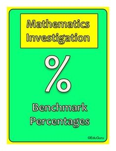 Investigations are a fun and interesting way of learning mathematics.This investigation challenge students to use benchmark percentages to solve real life problems. It includes notes for the students and teacher.I will appreciate your feedback to improve my products!Follow EduGuru for more mathematics investigations.