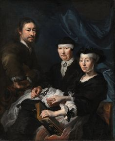Karel van Mander III (1609/10-1670). The Artist with his Family. Датская национальная галерея, Копенгаген (СМК)