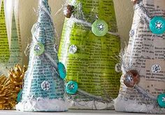Decoupage - Winter Wonderland Christmas Trees with Faux Snow