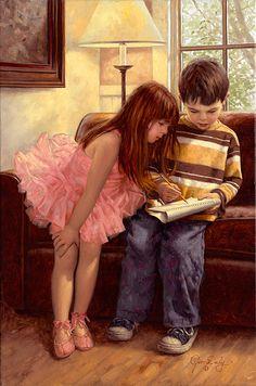 "Jim Daly ~  ""The Budding Artists"""