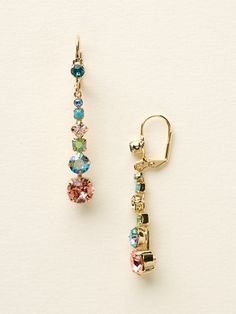 Dazzling Dotted Line Earring in Caribbean Coral by Sorrelli - $50.00 (http://www.sorrelli.com/products/ECQ14BGCCO)