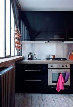 Black kitchen / cocina negra