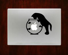 "Cat in Fish Bowl Humor Funny Decal Sticker Vinyl For Macbook Pro Air 13"" Inch 15"" Inch"