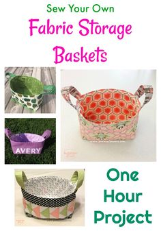 Making Fabric Storage Baskets - Sew Much Moore