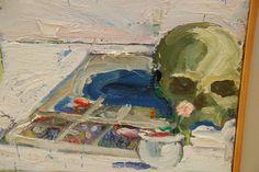 Detail of Mirror, Skull & Chair by Paul Wonner |