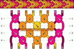 Normal Friendship Bracelet Pattern #10917 - BraceletBook.com
