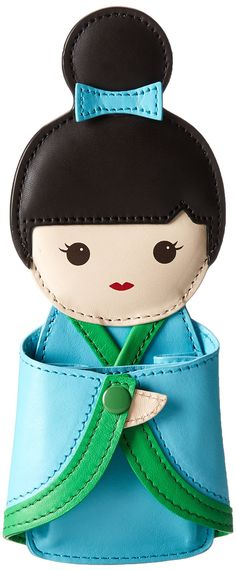 kate spade new york Hello Tokyo Coin Purse,Kinetic Turquoise/Metropolis Green,One Size. Cowhide. Height 7in / 17.5cm. Width 3.5in / 9cm.