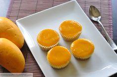 Zesty South Indian Kitchen: Mango Cheesecake with Mango Glee Healthy Dessert Recipes, Cupcake Recipes, Easy Desserts, Individual Desserts, Cookie Recipes, Mango Cake, Mango Cupcakes, Mango Cheesecake, Cheesecake Desserts