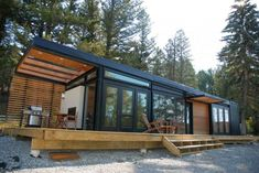 contemporary mobile homes in the wood