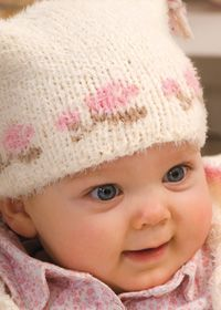 Adorable baby hat with flowers