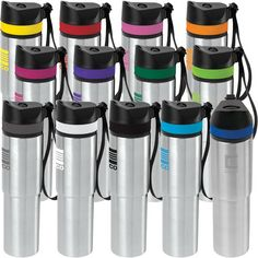 f40d9bb247 20 oz Persona (TM) Tower Vacuum Water Bottle. Constructed out of FDA  compliant