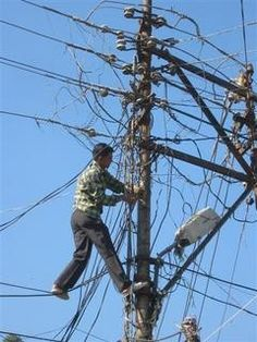 Electrical work - Back in the day, my grandfather, Mr. Lee Thompson, was an electrical lineman.  Bravo to him as it was very dangerous work and certainly served a purpose in the development of our country.