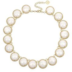 Kendra Scott Adriana Mother-of-Pearl Collar Necklace featuring polyvore, fashion, jewelry, necklaces, red, 14k chain necklace, kendra scott, 14k necklace, chain collar necklace and 14k jewelry