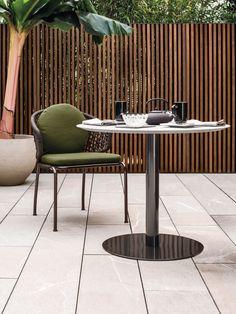 Contemporary table / silver / garden / residential BELLAGIO