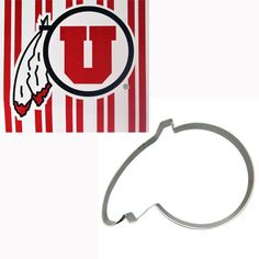 Univeristy of Utah Athletic Logo Cookie Cutter with Recipe - Perfect for tailgate treats!