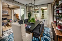 Dine in Style in this Persimmon Plan 1 Dining Room | by SheaHomesNoCal #CanneryDavis #DavisCA