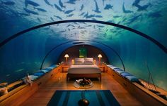 Dangerous Underwater Bedroom  I would never get any sleep!
