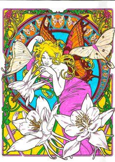 Fae Nouveau A Faerie Coloring Book Colored By Michele Hauf