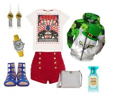 Summer vacation by georgia-ret on Polyvore featuring polyvore, fashion, style, Gucci, Pierre Balmain, Jimmy Choo, Valentino, Charlotte Lowe, Olivia Pratt, Tom Ford and clothing