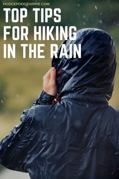 Hiking in the rain is fun and doesn't have to be scary. These simple tips for hiking in the rain will keep you as dry and safe as possible. - Top Tips for Hiking in the Rain Hiking In The Rain, Hiking Tips, Camping And Hiking, Hiking Gear, Hiking Backpack, Camping Gear, Camping Gifts, Running Tips, Camping Equipment