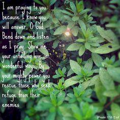 Psalm 17:6-7