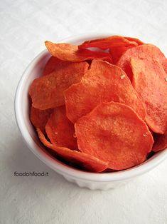 Chips di patate dolci americane al forno